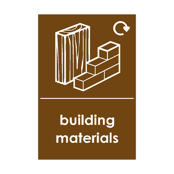 Building Materials Waste Sticker | Safety-Label.co.uk