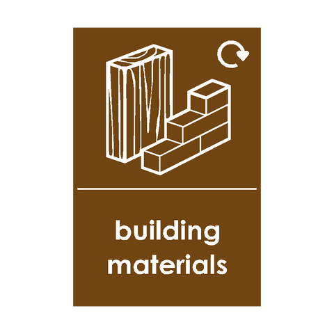 Building Materials Waste Sticker - Safety-Label.co.uk
