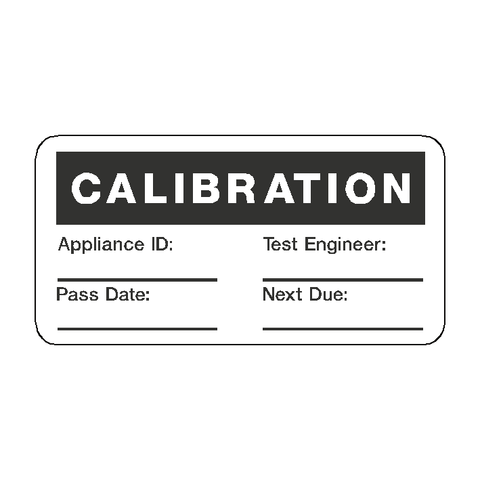 Calibration Label - Safety-Label.co.uk