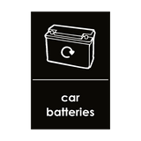 Car Batteries Waste Sticker | Safety-Label.co.uk