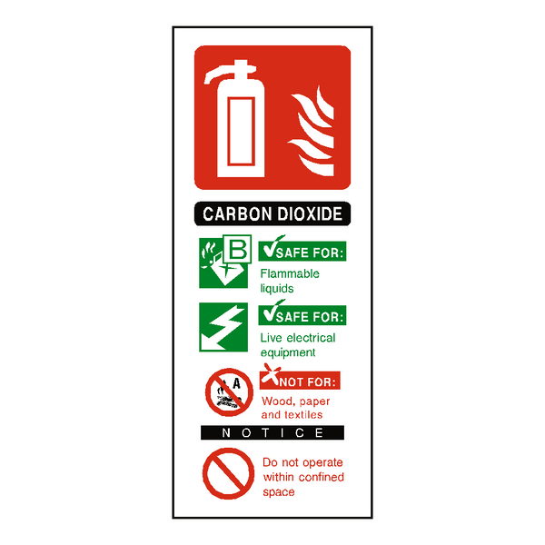 CO2 Fire Extinguisher Sign | Safety-Label.co.uk