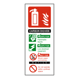 CO2 Fire Extinguisher Label | Safety-Label.co.uk
