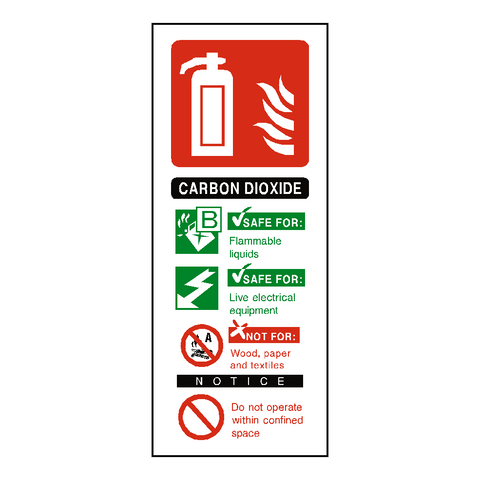 CO2 Fire Extinguisher Label - Safety-Label.co.uk