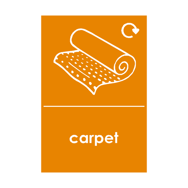 Carpet Waste Sticker | Safety-Label.co.uk