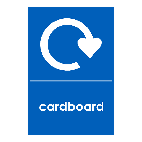 Recycling Cardboard Sticker - Safety-Label.co.uk