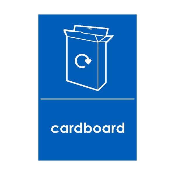 Cardboard Waste Recycling Sticker - Safety-Label.co.uk