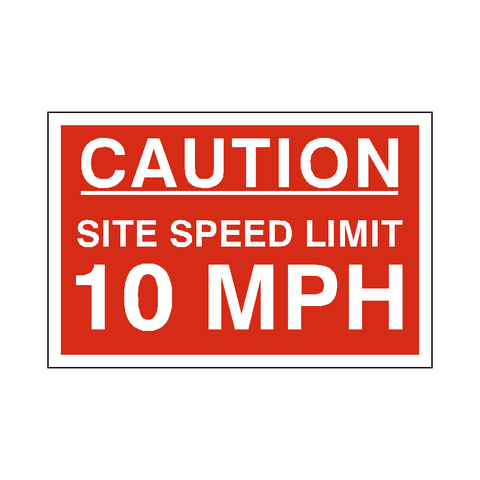 10 Mph Site Speed Limit Sign - Safety-Label.co.uk