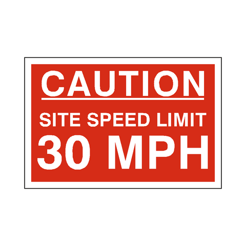 30 Mph Site Speed Limit Sign - Safety-Label.co.uk