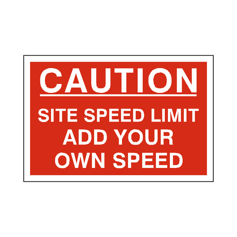 Custom Mph Site Speed Limit Sign - Safety-Label.co.uk