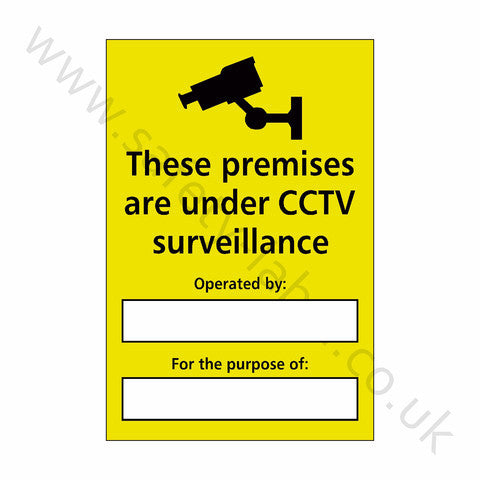 CCTV Sticker - Safety-Label.co.uk
