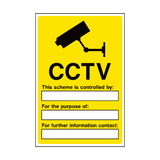 CCTV Security Sign - Safety-Label.co.uk