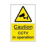 Caution CCTV Hazard Sign - Safety-Label.co.uk