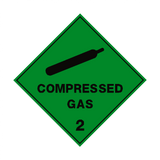 Compressed Gas 2 Label - Safety-Label.co.uk