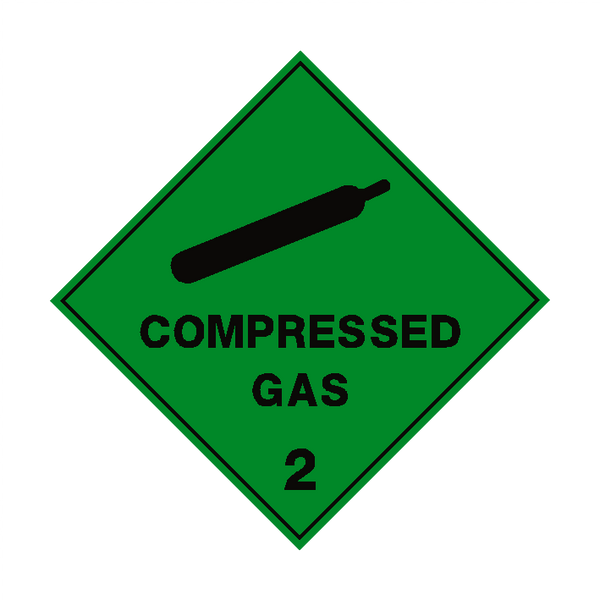 Compressed Gas 2 Label Safety Label Co Uk Safety Signs