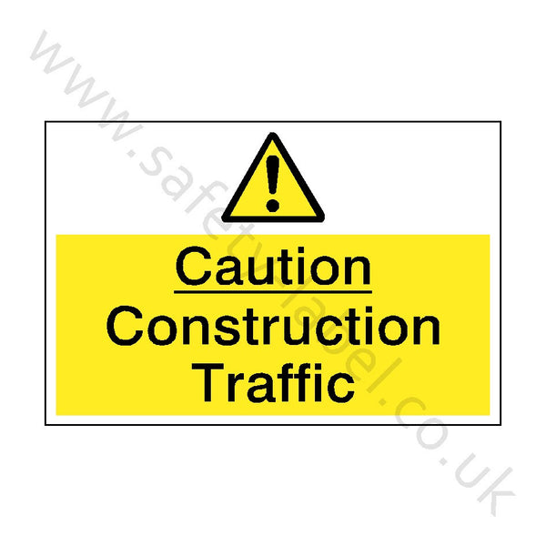 Construction Traffic Safety Sign | Safety-Label.co.uk