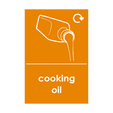 Cooking Oil Waste Sticker | Safety-Label.co.uk