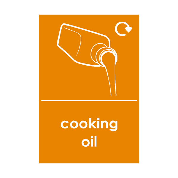 Cooking Oil Waste Sticker - Safety-Label.co.uk
