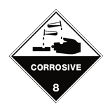 Corrosive 8 Label - Safety-Label.co.uk