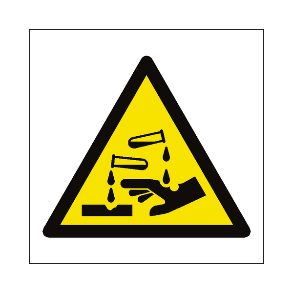 Corrosive Hazard Symbol Sign | Safety-Label.co.uk