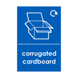 Corrugated Cardboard Waste Recycling Sticker - Safety-Label.co.uk