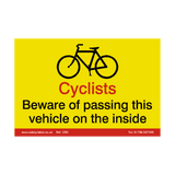 Cyclist Warning Sign | Safety-Label.co.uk