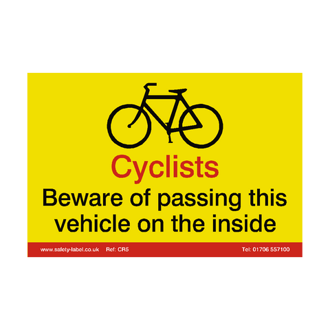 Cyclist Warning Sign - Safety-Label.co.uk