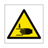 Crushing Hazard Symbol Sign | Safety-Label.co.uk