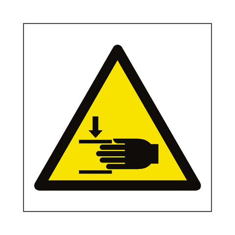 Crushing Hazard Symbol Sign - Safety-Label.co.uk
