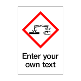 Custom Corrosive COSHH Sticker - Safety-Label.co.uk