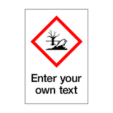 Custom Dangerous To The Environment Sticker | Safety-Label.co.uk