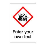 Custom Explosive COSHH Sticker - Safety-Label.co.uk