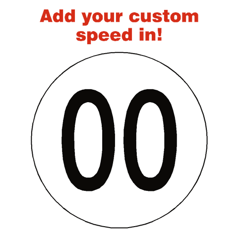 Custom Kph Speed Limit Sticker - Safety-Label.co.uk