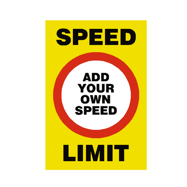Custom Mph Speed Limit Sign - Safety-Label.co.uk