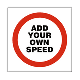 Custom Mph Speed Sign | Safety-Label.co.uk
