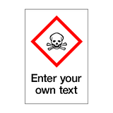 Custom Toxic COSHH Sticker - Safety-Label.co.uk