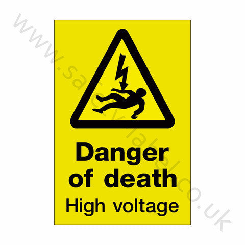 Danger Of Death Electrical Sign | Safety-Label.co.uk