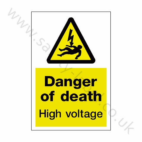 Danger Of Death Safety Sign - Safety-Label.co.uk