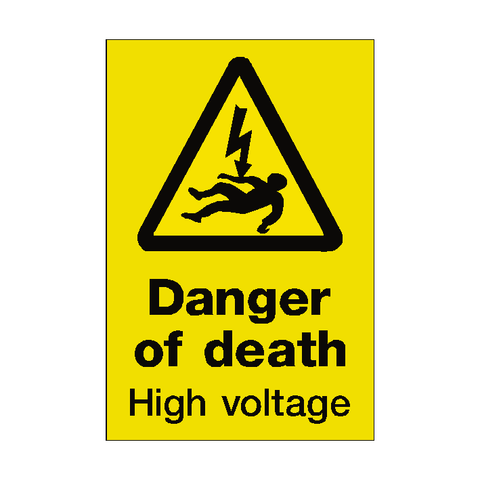 Danger of Death Sticker - Safety-Label.co.uk