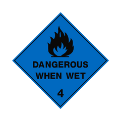 Dangerous When Wet 4 Label - Safety-Label.co.uk