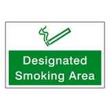 Designated Smoking Area Sign | Safety-Label.co.uk