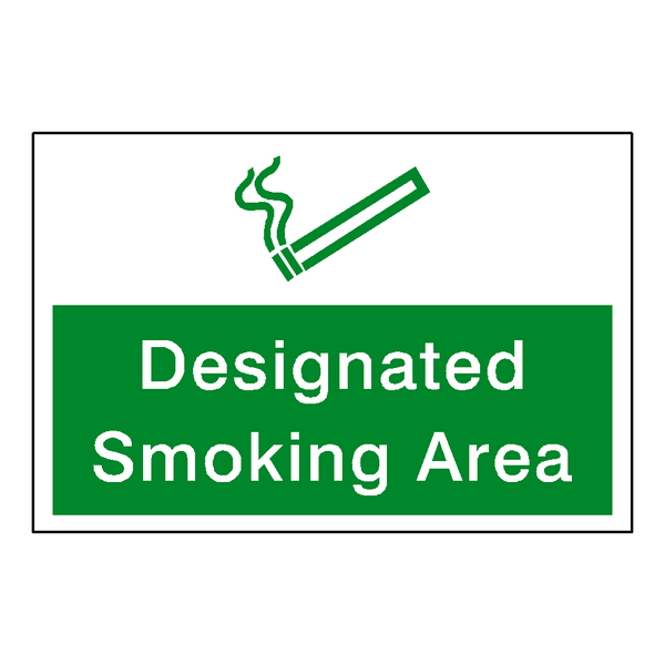 Designated Smoking Area Sticker | Safety-Label.co.uk