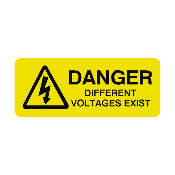 Different Voltages Labels Mini | Safety-Label.co.uk