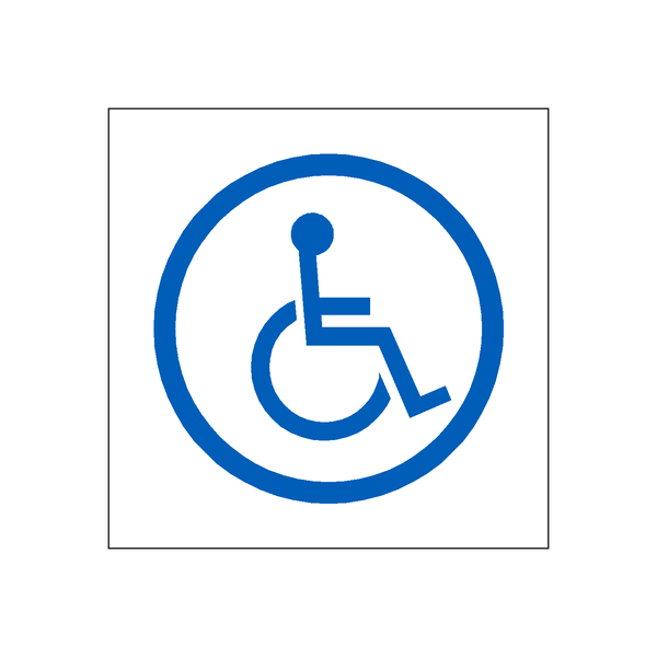 Disabled Sticker | Safety-Label.co.uk