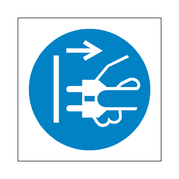 Disconnect Plug Symbol Sign - Safety-Label.co.uk
