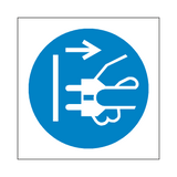 Disconnect Plug Symbol Label - Safety-Label.co.uk