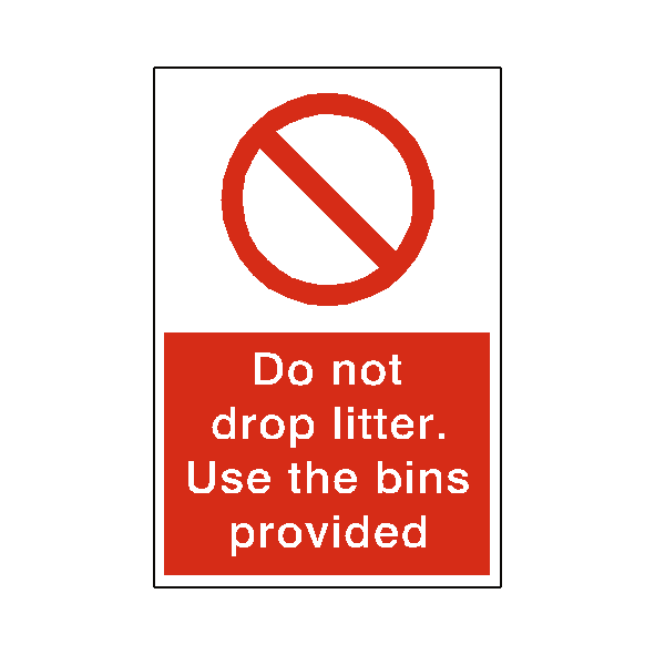 Do Not Drop Litter Sticker - Safety-Label.co.uk