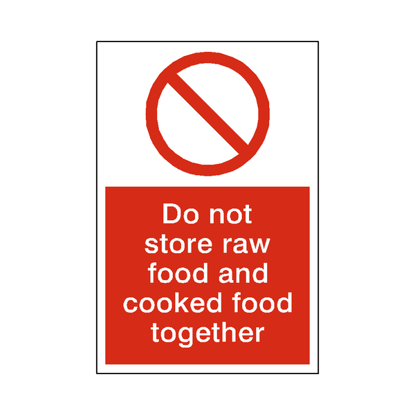 Raw Food / Cooked Food Sticker - Safety-Label.co.uk