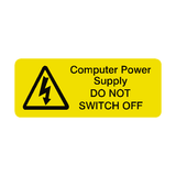 Do Not Switch Off Labels Mini | Safety-Label.co.uk