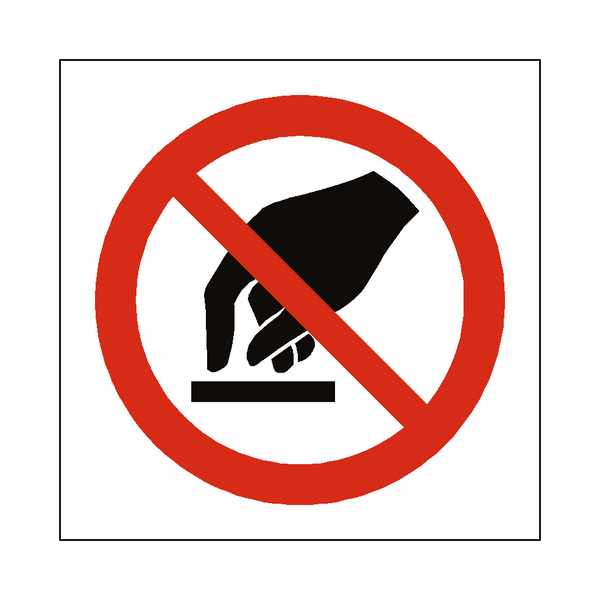 do not touch symbol label � safetylabelcouk safety