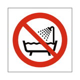 Do Not Use Device Near Water Symbol Sign | Safety-Label.co.uk